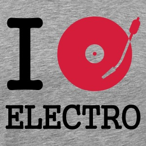 i dj play listen to electro - Men's Premium T-Shirt