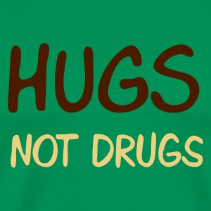hugs - not drugs - Mannen Premium T-shirt
