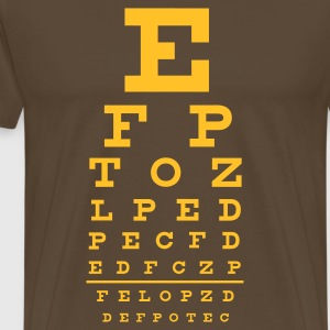 eye chart - Premium T-skjorte for menn