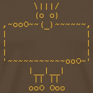 ascii art troll - Men's Premium T-Shirt