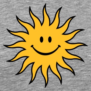 smiley sun - Herre premium T-shirt