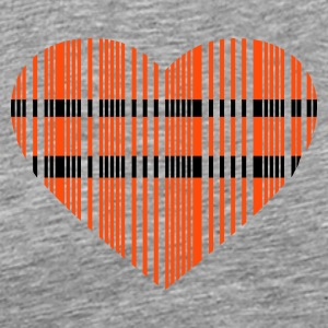 barcode heart 2 colors - Mannen Premium T-shirt