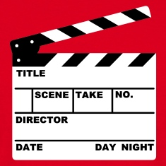 clapperboard - film - movie - tv