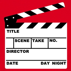 clapperboard - film - movie - tv - T-skjorte for menn