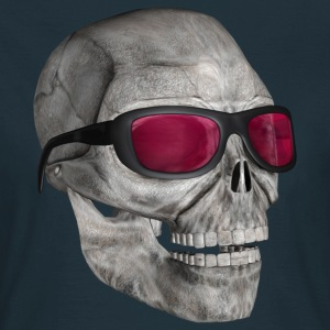 skull with sunglasses - Dame-T-shirt