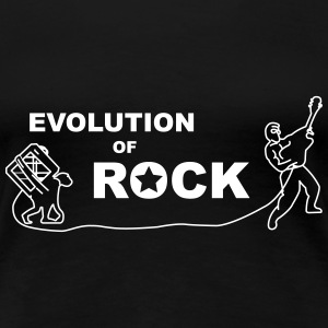 Evolution of Rock (md) - Frauen Premium T-Shirt