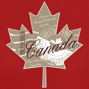 Canadian Maple Leaf T-Shirts - Frauen Bio-T-Shirt