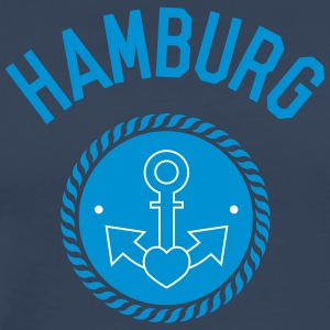 hamburg, harbour, gay, sailing, love, sea T-Shirts - Men's Premium T-Shirt