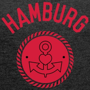 hamburg love T-Shirts - Women's T-shirt with rolled up sleeves