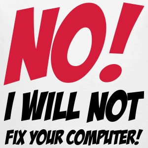 No I will not fix your computer ! Sudaderas - Body orgánico de manga larga para bebé