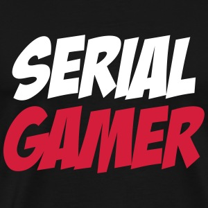 Serial Gamer T-shirts - Mannen Premium T-shirt