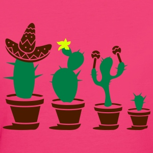 Cactuses with sombrero and maracas T-Shirts - Women's Organic T-shirt
