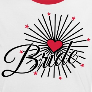 Bride Love-Fireworks Heart & Stars T-Shirts - Women's Ringer T-Shirt