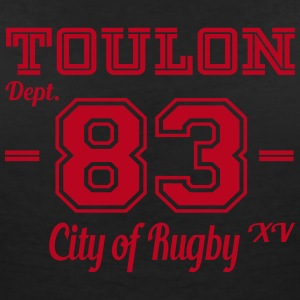 Toulon city of rugby - T-shirt col V Femme