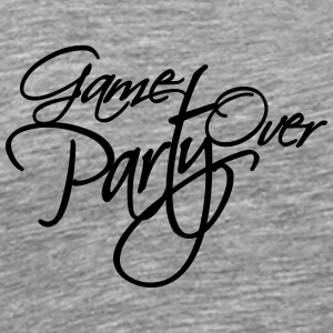 Game Over Party Text logo T-Shirts - Men's Premium T-Shirt