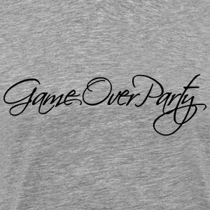 Game Over Party tekst Design T-shirts - Herre premium T-shirt