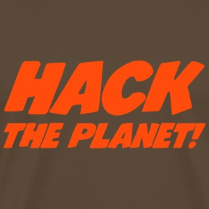 Hack the Planet ! T-skjorter - Premium T-skjorte for menn