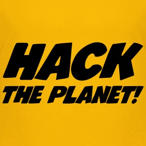 Hack the Planet ! Shirts - Kinderen Premium T-shirt