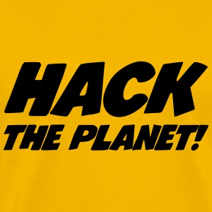 Hack the Planet ! T-shirts - Herre premium T-shirt