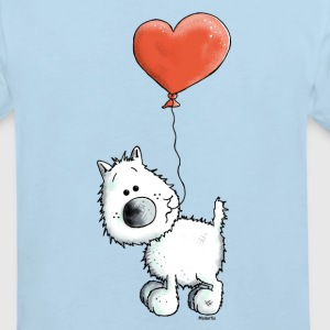 West Highland White Terrier - Dog With Heart Shirts - Kids' Organic T-shirt