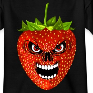 strawberry - fraise - skull Shirts - Teenage T-shirt
