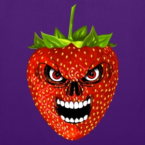 strawberry - fraise - skull Sacs et sacs à dos - Tote Bag