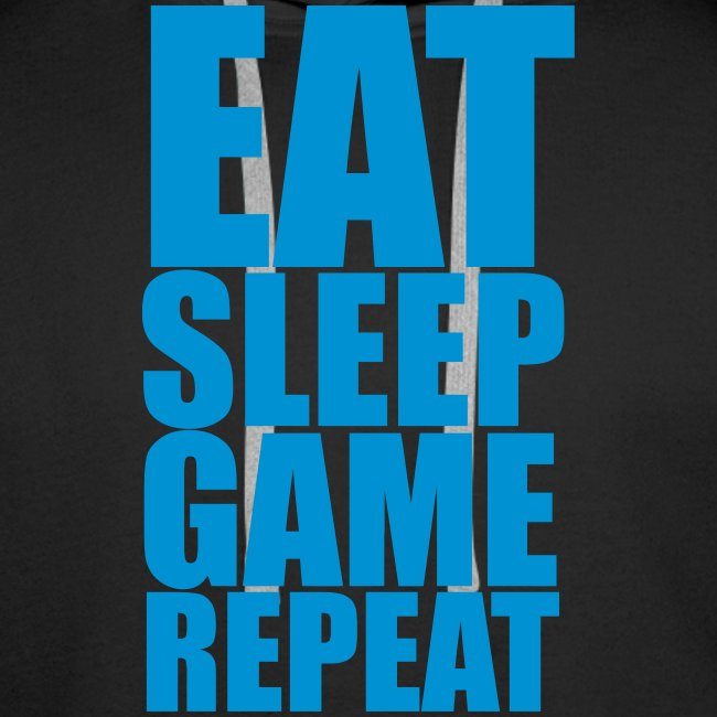 Eat Sleep Game Repeat - Men's Hoodie