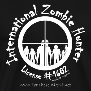 Men's T Shirt - International Zombie Hunter - Men's Premium T-Shirt