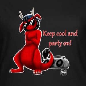 Keep cool- Drachi Dragon rot/red FrauenT-Shirt F - Frauen T-Shirt
