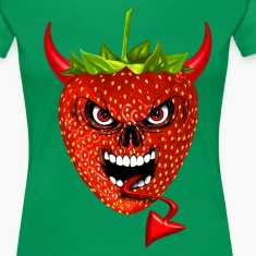 devil strawberry fraise skull T-Shirts