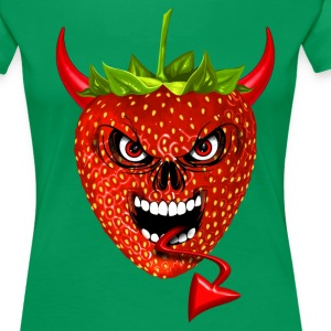 devil strawberry fraise skull T-Shirts - Women's Premium T-Shirt
