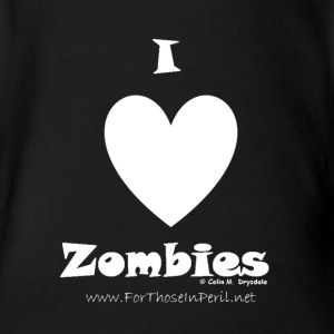 Baby Grow - I Love Zombies - Organic Short-sleeved Baby Bodysuit