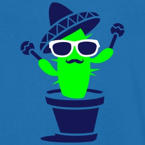 Cactus with sombrero and maracas  T-Shirts - Men's V-Neck T-Shirt