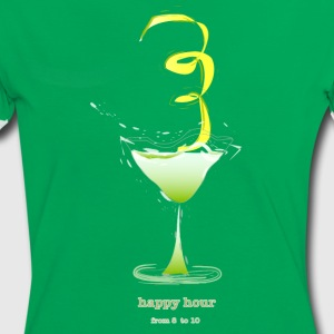 happy hour cocktail T-Shirts - Women's Ringer T-Shirt