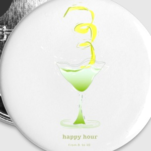 happy hour cocktail Buttons - Buttons klein 25 mm