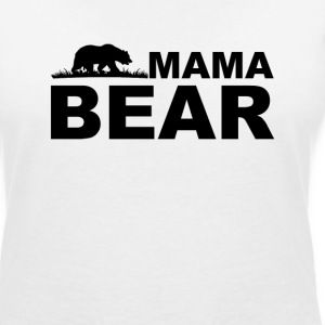 Mama Bear T-Shirts - Women's V-Neck T-Shirt