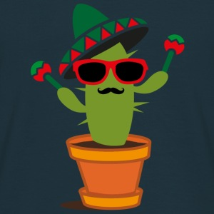 Cactus with sombrero and maracas  T-Shirts - Men's T-Shirt