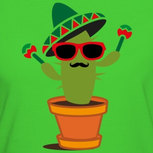 Cactus with sombrero and maracas  T-Shirts - Women's Organic T-shirt