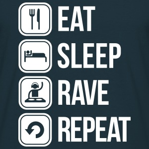eat sleep rave repeat T-shirts - Herre-T-shirt