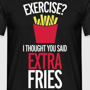 Extra Fries T-shirts - Mannen T-shirt