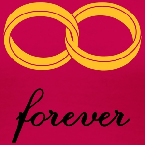 wedding rings forever T-Shirts - Women's Premium T-Shirt