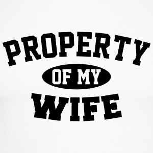 Property Of My Wife Long sleeve shirts - Men's Long Sleeve Baseball T-Shirt