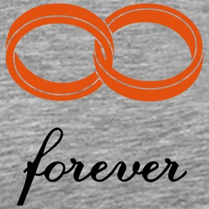 wedding rings forever T-shirts - Mannen Premium T-shirt