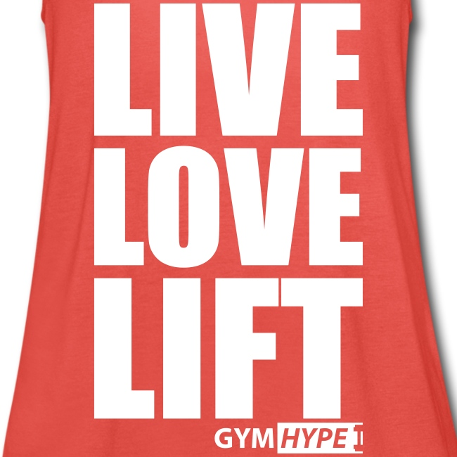 "Women's ""Live Love Lift"" Racerback Vest"