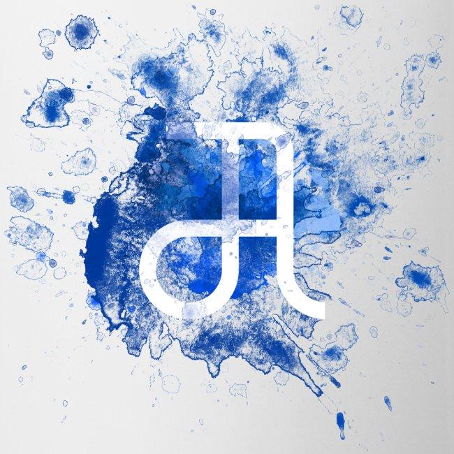 Tasse Glyphe Blau