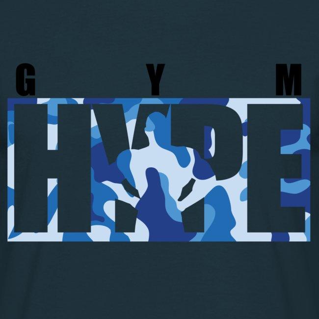 Men's Blue Camo Print T-shirt