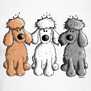 Three Funny Poodle - Dog - Dogs Long sleeve shirts - Men's Long Sleeve Baseball T-Shirt