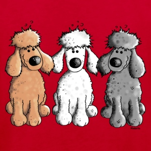 Three Funny Poodle - Dog - Dogs Shirts - Kids' Organic T-shirt