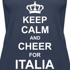 keep_calm_and_cheer_for_italia_g1 Tops - Camiseta de tirantes premium mujer