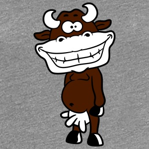 Crazy laughing grinning cow T-Shirts - Women's Premium T-Shirt